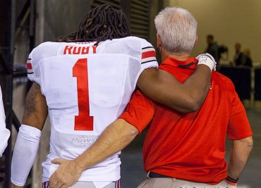 Bradley Roby and Kerry Coombs 2013 Ohio State