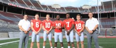 Ohio State Quarterbacks J.T. Barrett, Tate Martell, Joe Burrow, Ryan Day, Dwayne Haskins, Kory Curtis