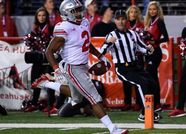 J. K. Dobbins scores against Nebraska