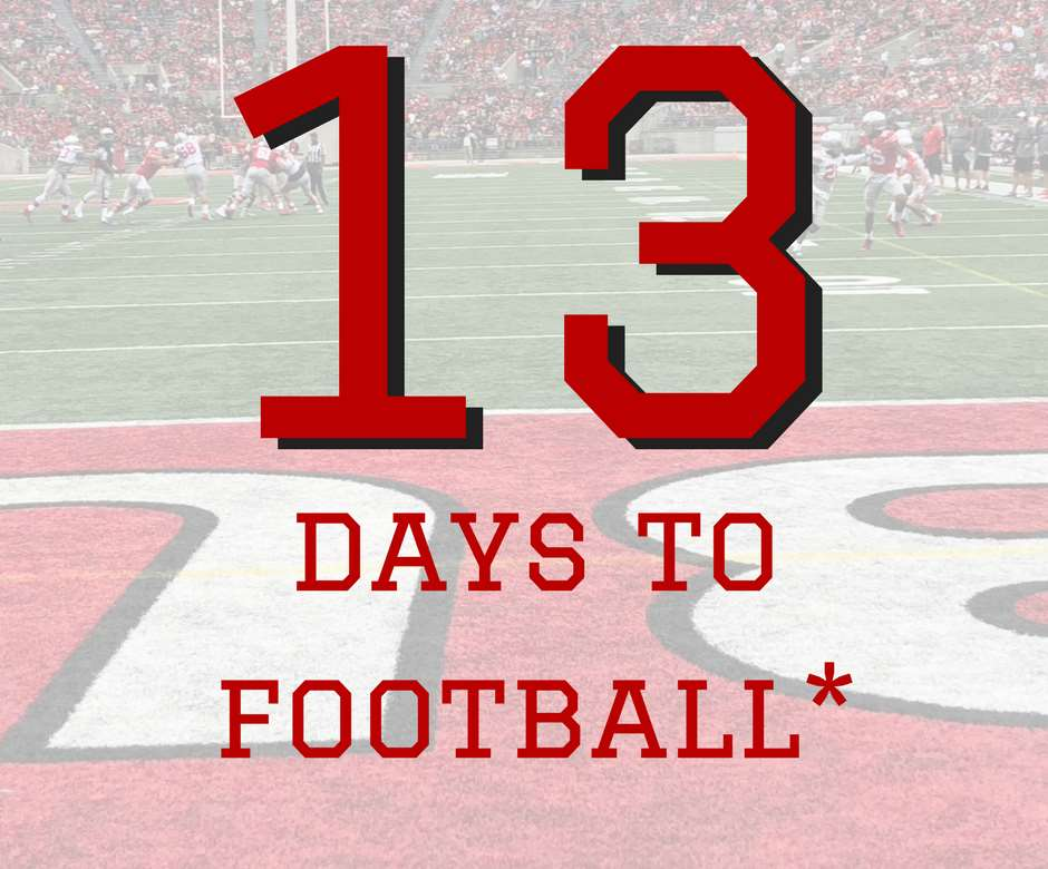 13 Days to Ohio State Football Buckeyes