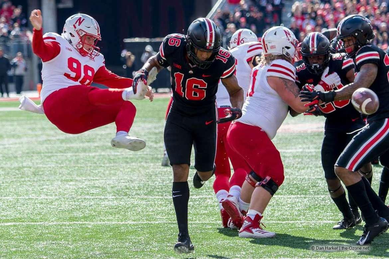 Ohio State football Kenandre Jones punt block Nebraska