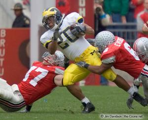 020 Tyler Everett AJ Hawk Ohio State Michigan 2004 The Game football