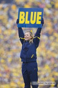 027 UM Cheerleader Ohio State Michigan 2007 The Game football