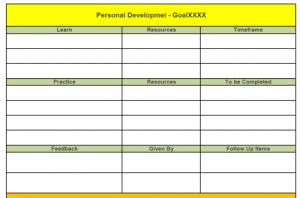 Personal Development Template