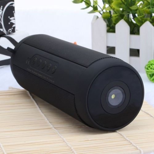 Portable Bluetooth Speaker Waterproof Sports FM Stereo Wireless LED Flashlight