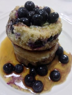 Blueberry Buttermilk Crumpets