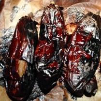 Roast Eggplants Until Blackened.