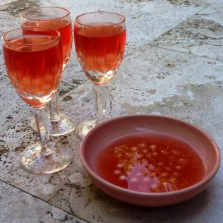 Lemon Infused Tapioca Pearls With Cranberry Tea