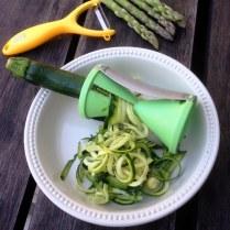 Spiralised Zucchini