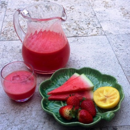 Watermelon And Strawberry Lemonade