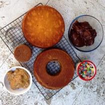 Ombre Pinata Cake Layers