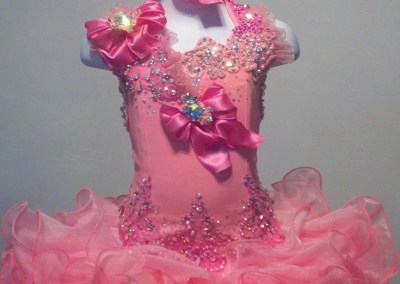 Pink Halter Cupcake Pageant Dress