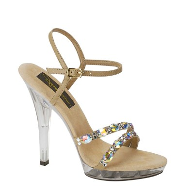 Austria Taupe 910 Ladies Pageant Shoe by Johnathan Kayne