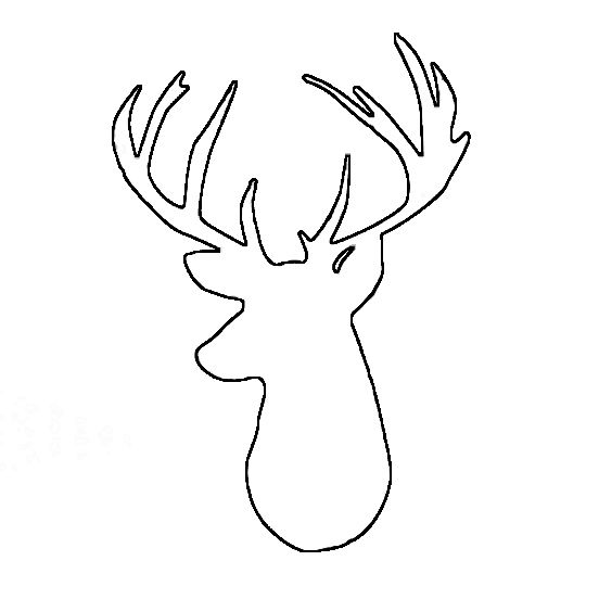 image about Deer Stencil Printable referred to as cd65962c8ddcbc4f70a1f3a17532c1c4-reindeer-silhouette-deer