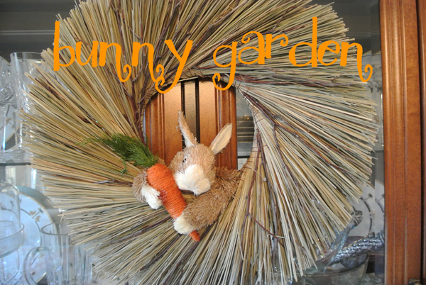 bunny wreath2 thepaintedapron.com