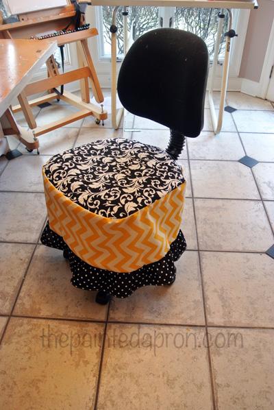 chair skirt thepaintedapron.com