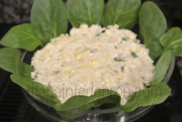 spinach lined dip thepaintedapron.com