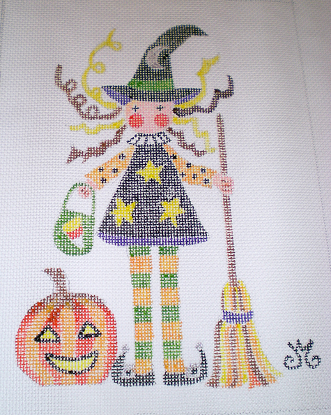 Wendy Witch canvas, JMdesigns.com