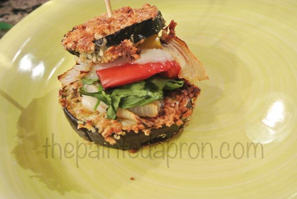 eggplant parmesan slider thepaintedapron.com
