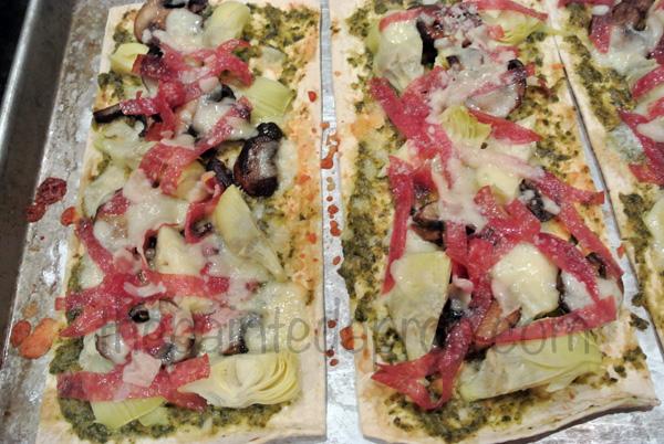antipasto flatbread 1 thepaintedapron.com
