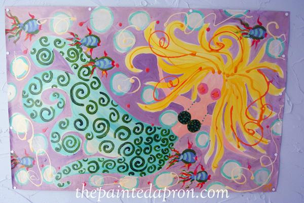 mermaid floorcloth jmdesignsgallery.com