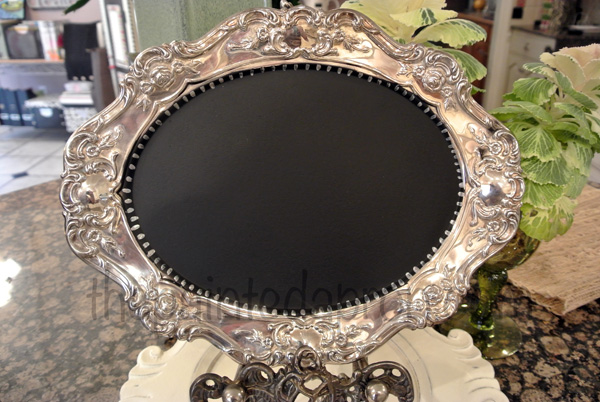 painted chalkboard tray thepaintedapron.com