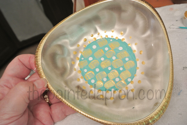 painted silver bowl thepaintedapron.com