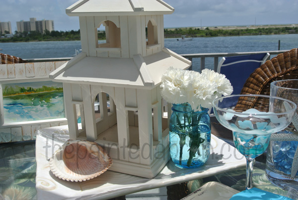 seaside centerpiece thepaintedapron.com