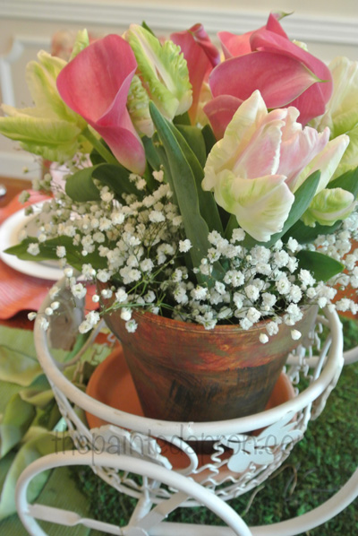 tulips and baby's breath thepaintedapron.com
