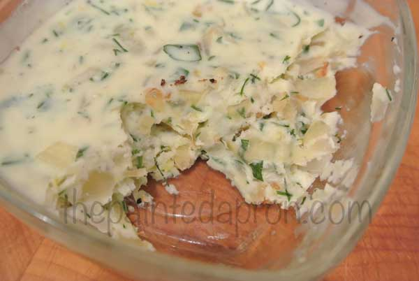 caramelized onion herb butter thepaintedapron.com
