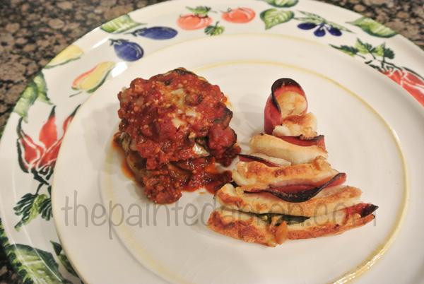 eggplant parm & fococcia thepaintedapron.com