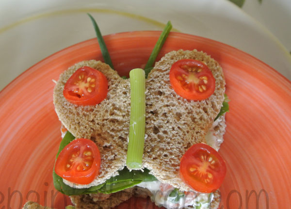 butterfly sandwich thepaintedapron.com