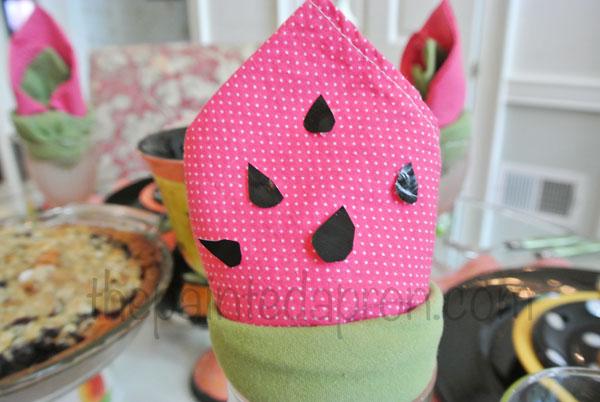 watermelon seed napkin thepaintedapron.com