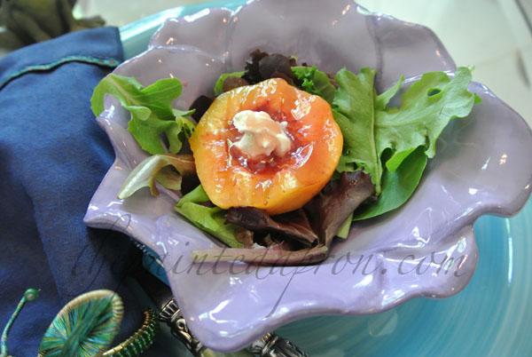 peach salad thepaintedapron.com