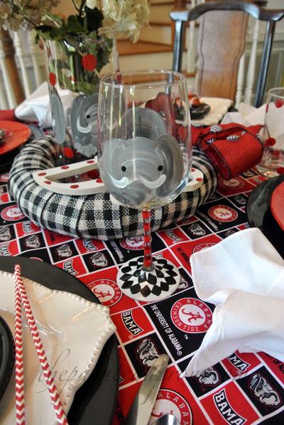 Alabama elephant glass thepaintedapron.com