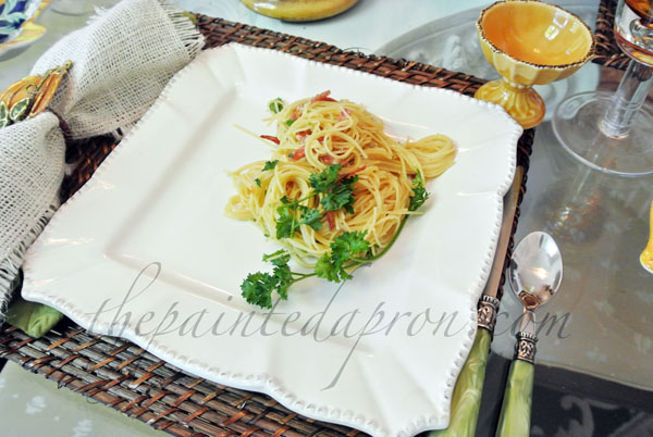 pasta carbonara thepaintedapron.com