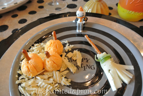 cheese pumpkins and brooms thepaintedapron.com
