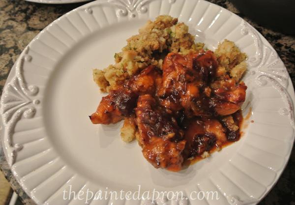 cranberry chicken bake thepaintedapron.com