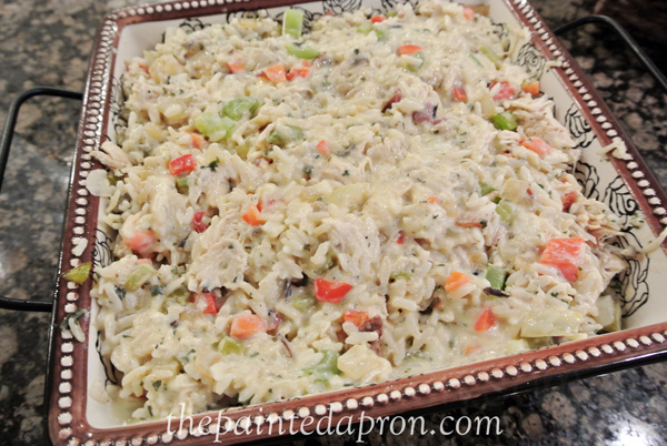 creamy chicken and wild rice thepaintedapron.com