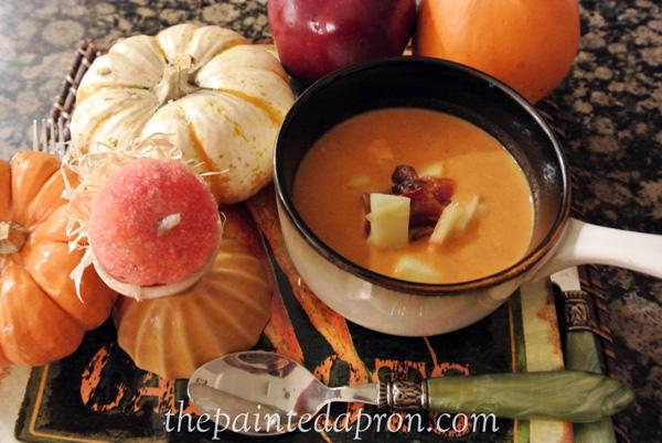 apple and pumpkin soup thepaintedapron.com