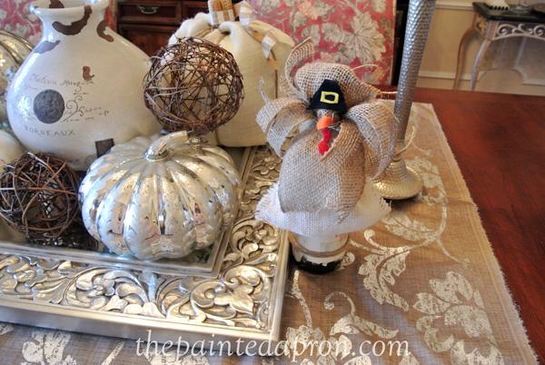 burlap turkey bottle topper thepaintedapron.com
