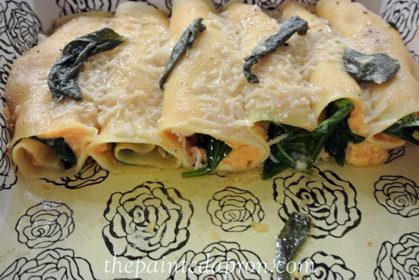 butternut squash cannelloni thepaintedapron.com