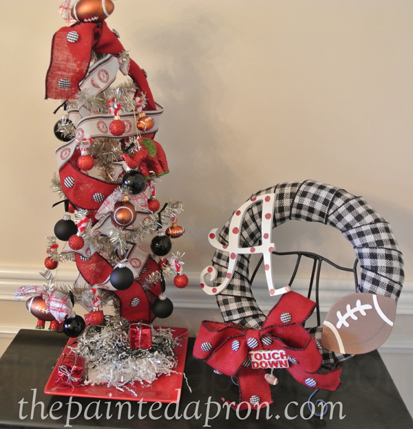 football tree and wreath thepaintedapron.com