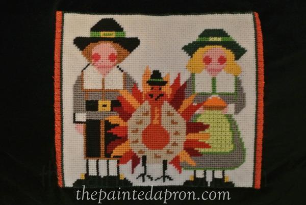 pilgrim needlepoint thepaintedapron.com