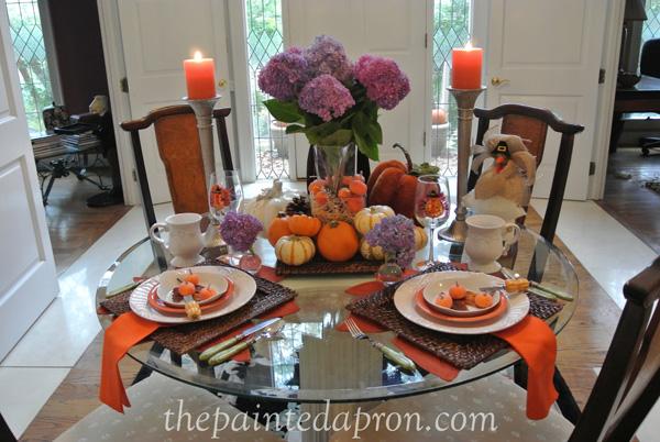 pumpkins and candlelight thepaintedapron.com