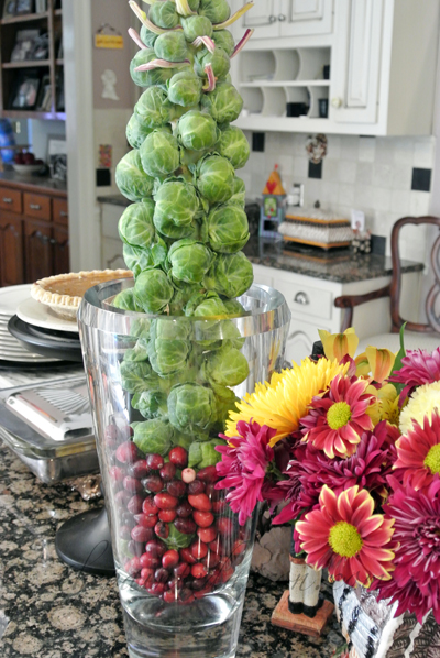brussels sprout centerpiece thepaintedapron.com