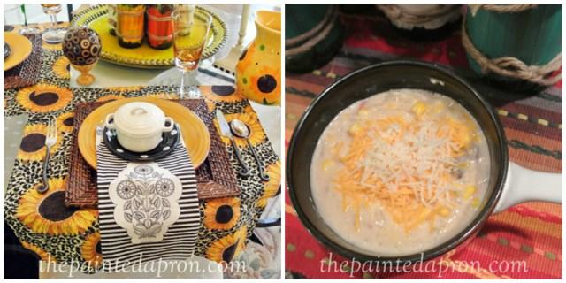 fiesta chowder thepaintedapron.com
