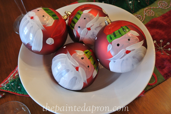 Old St. Nick ornaments thepaintedapron.com