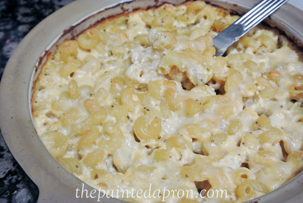 lite no boil mac and cheese thepaintedapron.com