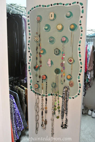 wall for jewelry thepaintedapron.com
